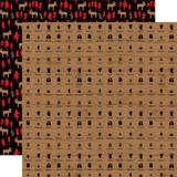 Little Lumberjack: Animal Tracks   12x12 Patterned Paper