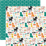 Meow: Cat Icons 12x12 Patterned Paper