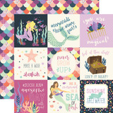 Mermaid Dreams: 4x4 Journaling Cards 12x12 Patterned Paper