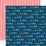 Merry Christmas: Christmas Lights 12x12 Patterned Paper