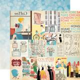 Metropolitan Girl: Journaling Cards 12x12 Patterned Paper