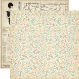 Metropolitan Girl: Hang Those Clothes 12x12 Patterned Paper