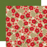 My Favorite Christmas: Holiday Floral 12x12 Patterned Paper