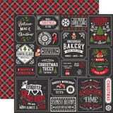My Favorite Christmas: Christmas Squares 12x12 Patterned Paper