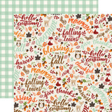 My Favorite Fall: Hello Autumn 12x12 Patterned Paper