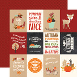 My Favorite Fall: 3x4 Journaling Cards 12x12 Patterned Paper