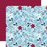 My Favorite Winter: Winter Floral 12x12 Patterned Paper