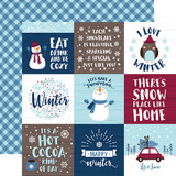 My Favorite Winter: 4x4 Journaling Cards 12x12 Patterned Paper