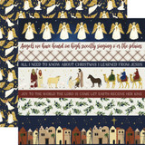Oh Holy Night: Border Strips 12x12 Patterned Paper