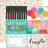 Party Time: 4x6 Journaling Cards 12x12 Patterned Paper