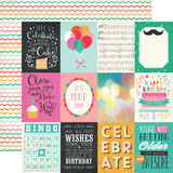 Party Time: 3x4 Journaling Cards 12x12 Patterned Paper