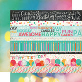 Party Time: Border Strips 12x12 Patterned Paper