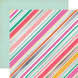 Party Time: Diagonal Stripe Foil 12x12 Patterned Paper