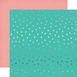 Party Time: Random Dot Foil 12x12 Patterned Paper