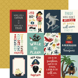 Pirate Tales: 3x4 Journaling Cards 12x12 Patterned Paper