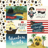Pirate Tales: 6x4 Journaling Cards 12x12 Patterned Paper
