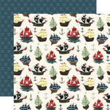 Pirate Tales: Pirate Ships 12x12 Patterned Paper