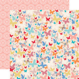 Practically Perfect: Beautiful Butterflies 12x12 Patterned Paper