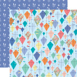 Practically Perfect: Dancing Kites 12x12 Patterned Paper