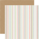 Rustic Elegance: Multi Stripe 12x12 Patterned Paper