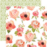 Rustic Elegance: Flowers 12x12 Patterned Paper