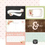 Rustic Elegance: 4x6 Journaling Cards 12x12 Patterned Paper