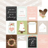 Rustic Elegance: 3x4 Journaling Cards 12x12 Patterned Paper