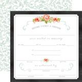 Rustic Elegance: Certificate 12x12 Patterned Paper