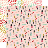 Salon: Nail Polish  12x12 Patterned Paper