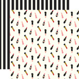 Salon: Lipsticks 12x12 Patterned Paper