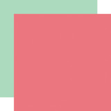 Salon: Dark Pink/Mint 12x12 Solid Paper