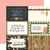 Spring Market: 4X6 Journaling Cards 12x12 Patterned Paper