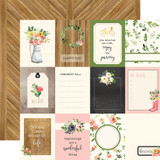 Spring Market: 3x4 Journaling Cards 12x12 Patterned Paper