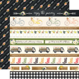 Spring Market: Border Strips 12x12 Patterned Paper