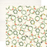 Spring Market: Wreath Decor 12x12 Patterned Paper