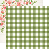 Spring Market: Garden Gingham 12x12 Patterned Paper