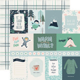 Snow Much Fun: 3x4 Journaling Cards 12x12 Patterned Paper
