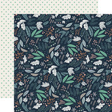 Snow Much Fun: Snowy Floral 12x12 Patterned Paper