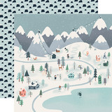 Snow Much Fun: Winter Town 12x12 Patterned Paper