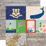 Stateside: Connecticut 12x12 Patterned Paper