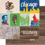 Stateside: Illinois 12x12 Patterned Paper