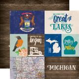Stateside: Michigan 12x12 Patterned Paper