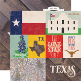 Stateside: Texas 12x12 Patterned Paper