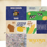 Stateside: Wisconsin 12x12 Patterned Paper