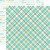Sweet Baby Boy: Sweet Boy Plaid 12x12 Patterned Paper