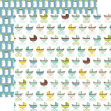 Sweet Baby Boy: Baby Strollers 12x12 Patterned Paper