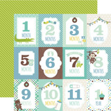 Sweet Baby Boy: Month Cards 12x12 Patterned Paper