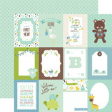 Sweet Baby Boy: 3x4 Journaling Cards 12x12 Patterned Paper