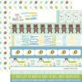 Sweet Baby Boy: Border Strips 12x12 Patterned Paper