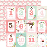 Sweet Baby Girl: Month Cards 12x12 Patterned Paper